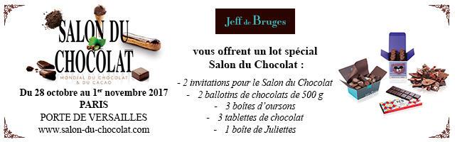 Gagnez votre pack Salon du chocolat Jeff de Bruges !
