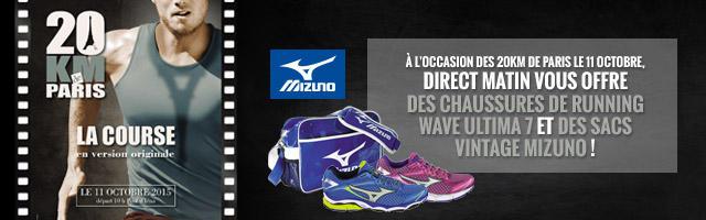 Jeu concours : gagnez votre paire de chaussures de running Mizuno
