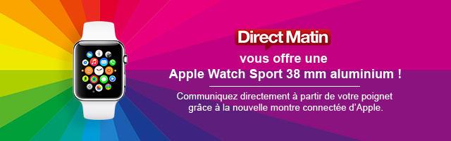 Jeu concours : gagnez une Apple Watch Sport
