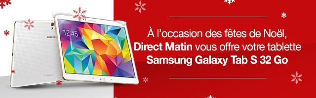 Gagnez une Samsung Galaxy Tab S pour Noël