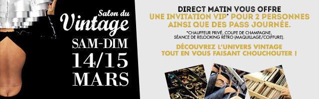 Gagnez des invitations pour le Salon du Vintage