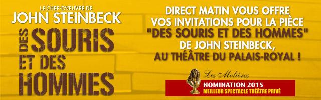 """Concours : gagnez vos invitations pour la pièce """"Des souris et des hommes"""""""