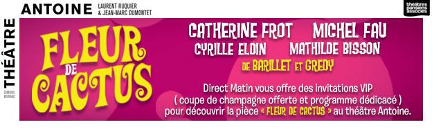 """Gagnez vos invitations pour la pièce """"Fleur de Cactus"""" au Théâtre Antoine"""