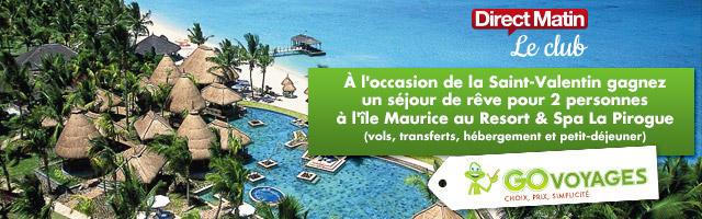 Grand jeu Saint Valentin : gagnez un voyage à l'Île Maurice
