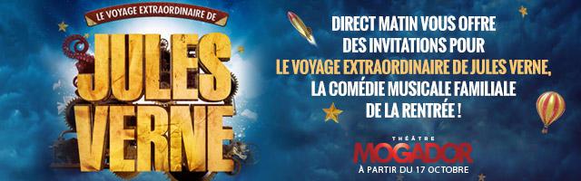 """Gagnez vos invitations pour le spectacle """"Le Voyage extraordinaire de Jules Verne"""""""