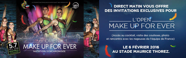 Gagnez vos invitations pour l'Open Make Up For Ever