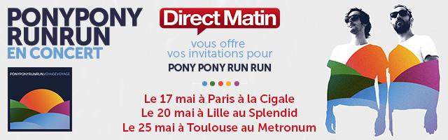 Gagnez vos invitations pour le concert de Pony Pony Run Run