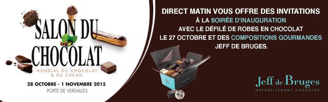 Gagnez vos invitations pour la soirée d'inauguration du Salon du Chocolat