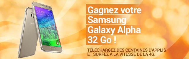 Jeu concours : gagnez un Samsung Galaxy Alpha