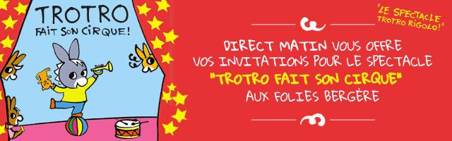 Gagnez vos invitations pour le spectacle Trotro