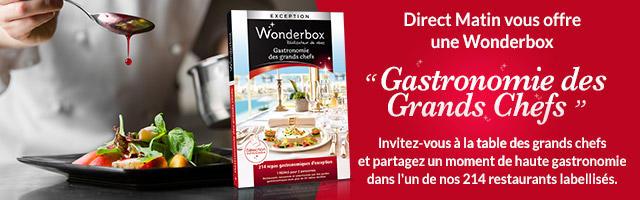 """Gagnez une Wonderbox """"Gastronomie des Grands Chefs"""""""