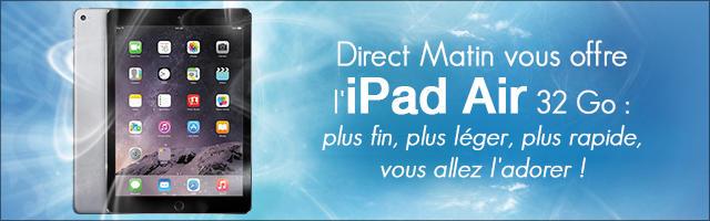 Jeu concours : gagnez un iPad Air