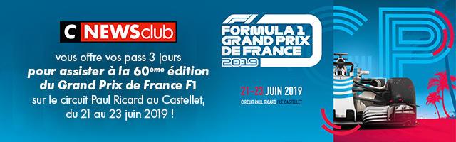 Gagnez votre pass 3 jours pour le Grand Prix F1