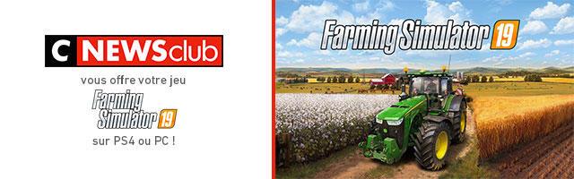 Gagnez votre jeu vidéo Farming Simulator 19 !