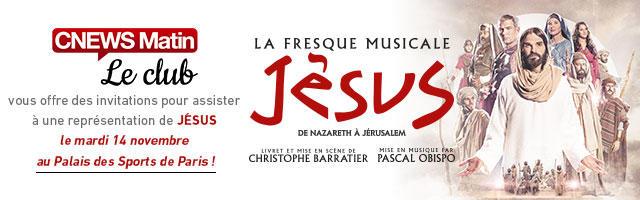 Gagnez vos invitations pour assister au spectacle JESUS !