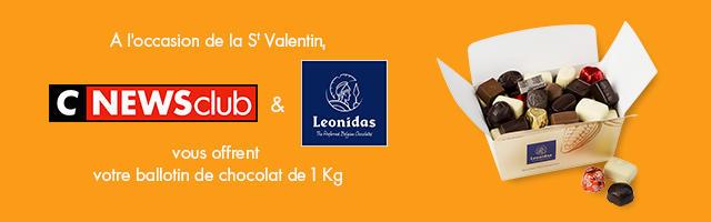 Gagnez votre ballotins de chocolat de 1kg Leonidas
