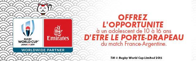Gagnez votre voyage pour la Coupe du Monde de Rugby 2019™ au Japon