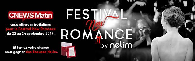 Festival New Romance : gagnez des invitations et des liseuses Nolim