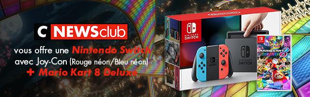 Gagnez une Nintendo Switch et le jeu Mario Kart 8 !