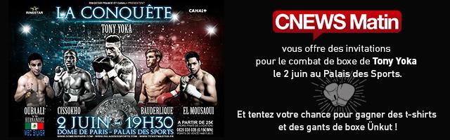Gagnez vos invitations pour le combat de boxe de Tony Yoka au Palais des Sports