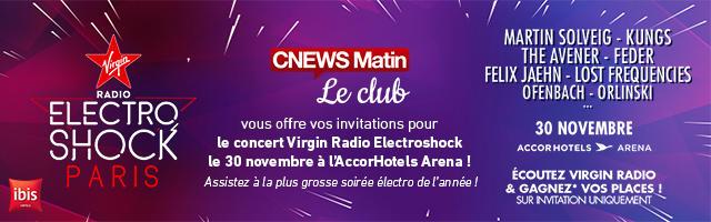Gagnez vos invitations pour le concert Virgin Radio Electroshock