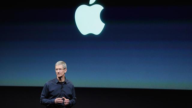 Tim Cook, le dirigeant d'Apple, le 4 octobre 2011 à Cupertino, en Californie [Kevork Djansezian / Getty Images/AFP/Archives]
