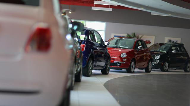 Des voitures Fiat présentées à Miami en Floride en juillet 2012 [Joe Raedle / Getty Images/AFP/Archives]