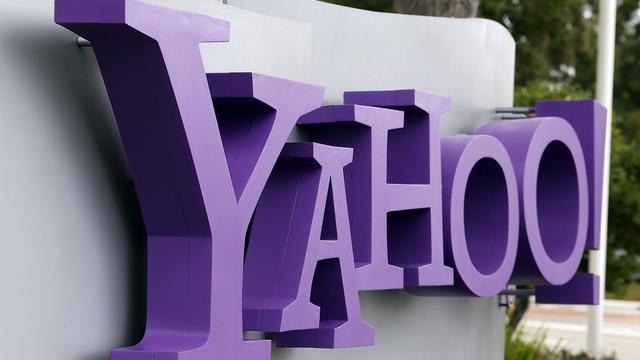 Le logo de Yahoo!, devant le siège du groupe à Sunnyvale, en Californie, le 17 juillet 2012 [Justin Sullivan / Getty Images/AFP/Archives]