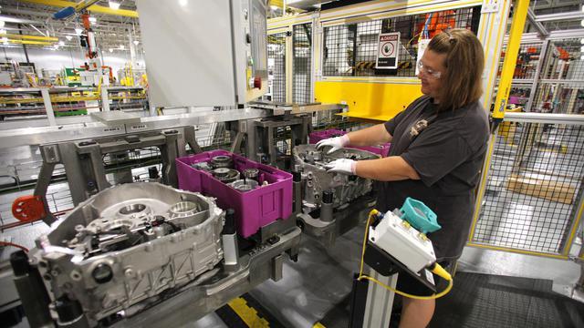 """Le constructeur automobile américain Ford a annoncé mercredi le lancement d'un investissement de 135 millions de dollars dans la production de composants électriques et de batteries destinés à des véhicules """"verts"""".[GETTY IMAGES NORTH AMERICA]"""