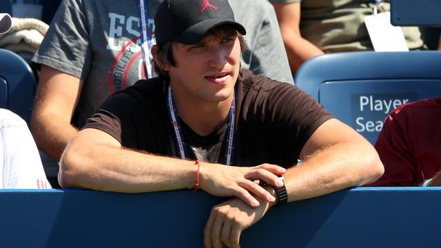Alexander Ovechkin, dans les tribunes de l'US Open, le 30 août 2012 à New York. [Cameron Spencer / AFP/Getty Images]