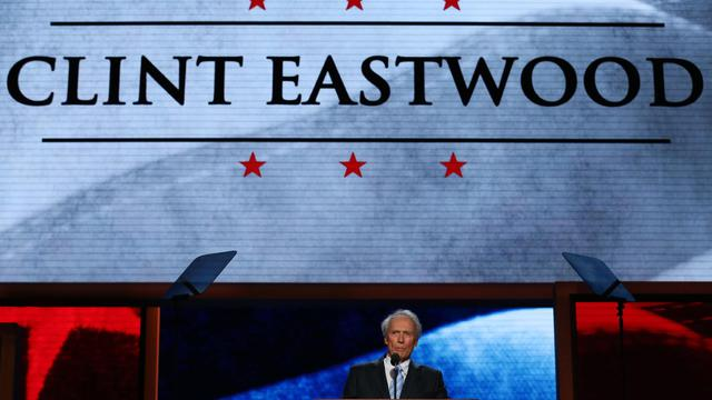 Clint Eastwood lors de la convention républicaine, le 30 août 2012 à Tampa Bay (Floride) [Chip Somodevilla / Getty Images/AFP/Archives]
