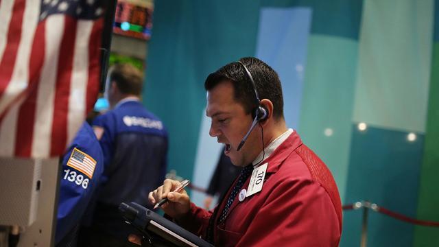 Un trader à la Bourse de New York, le 18 septembre 2012 [Spencer Platt / Getty Images/AFP/Archives]