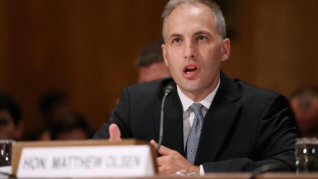 Le directeur du Centre de lutte antiterroriste Matthew Olsen s'exprime devant le Sénat américain, le 19 septembre 2012 à Washington [Chip Somodevilla / Getty Images/AFP]