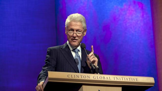 L'ancien président américain Bill Clinton le 23 septembre 2012 à New York [Allison Joyce / Getty Images/AFP]