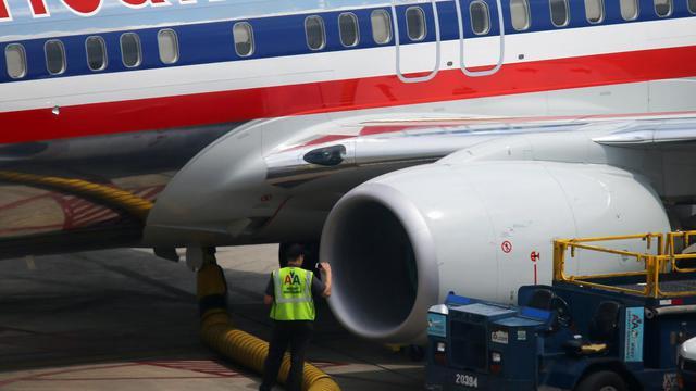 Un avion d'American Airlines à l'aéroport de Miami, le 25 septembre 2012 [Joe Raedle / Getty Images/AFP/Archives]