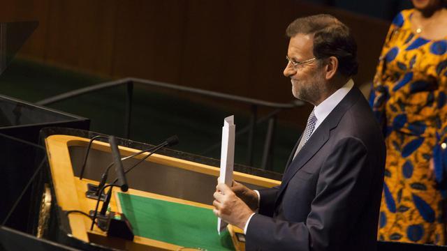 Le chef du gouvernement espagnol Mariano Rajoy, le 25 septembre 2012 à l'Assemblée générale de l'ONU à New York [Michael Nagle / Getty Images/AFP/Archives]