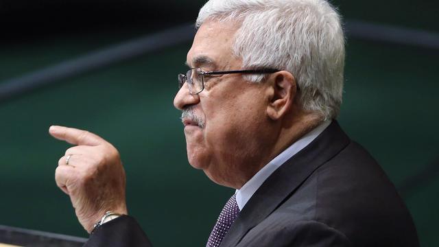 Le président palestinien Mahmoud Abbas le 27 septembre 2012 à l'Assemblée générale de l'ONU à New York [John Moore / Getty Images/AFP/Archives]