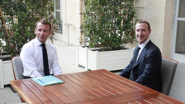Emmanuel Macron et Mark Zuckerberg se sont déjà rencontrés. C'était en mai 2018, à l'Elysée.