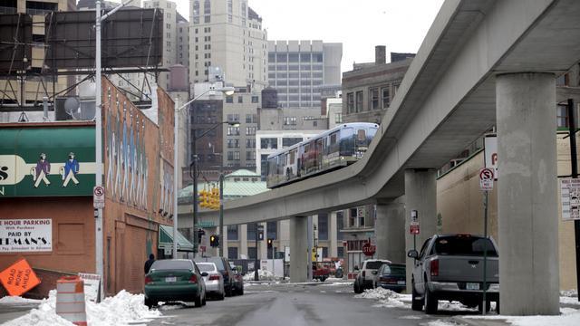 Une rue de Detroit, dans le Michigan, le 24 février 2013 [J.D. Pooley / Getty Images/AFP/Archives]