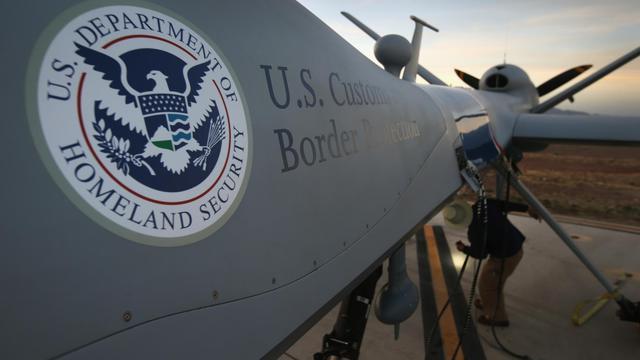 Un drône predator américain sur une piste de Fort Huachuca à Sierra Vista, en Arizona [John Moore / Getty Images/AFP/Archives]
