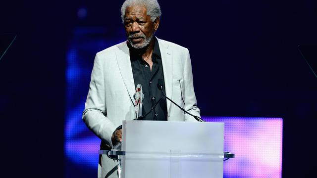 L'acteur américain Morgan Freeman, le 18 avril 2013 à Las Vegas [Ethan Miller / Getty Images/AFP/Archives]