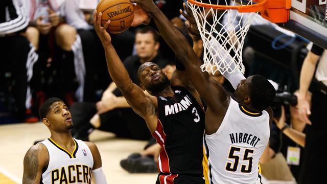 Le joueur de Miami Dwyane Wade lors de la finale de conférence contre Indiana le 26 mai 2013 [Gregory Shamus / AFP/Getty Images]