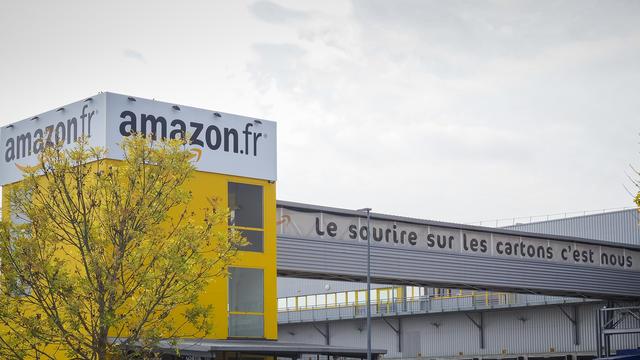 Le centre de distribution Amazon à Saran dans le Loiret.