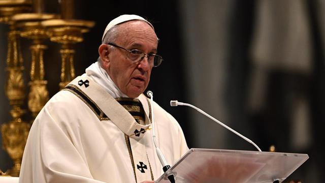 Le pape François conduisant la messe de l'Epiphanie le 6 janvier dernier au Vatican.
