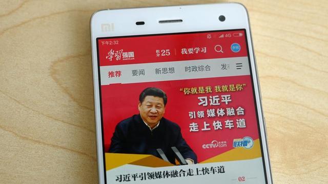 Cette application, baptisée Xuexi Qiangguo, a dépassé en avril le cap des 100 millions de téléchargements, selon les médias d'Etat chinois.