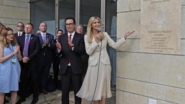 Ivanka Trump lors de l'inauguration de l'ambassade américaine de Jérusalem en 2018