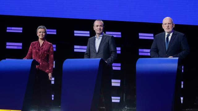Margrethe Vestager, Manfred Weber et Frans Timmermans sont trois des quatre principaux prétendants au poste de président de la Commission européenne.