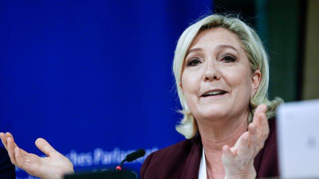 Marine Le Pen en juin à Bruxelles.