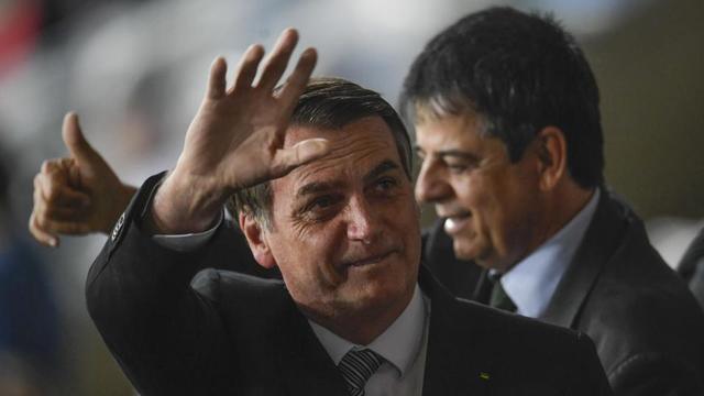 Le président brésilien Jair Bolsonaro était présent dans les tribunes lors de la demi-finale de la Copa America Brésil-Argentine (2-0), mardi 2 juillet à Belo Horizonte (Brésil).