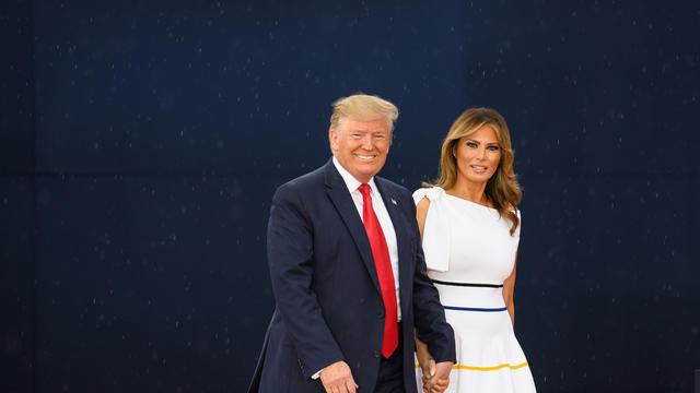 Les époux Trump ont fait venir le bébé de deux mois, déjà sorti de l'hôpital.